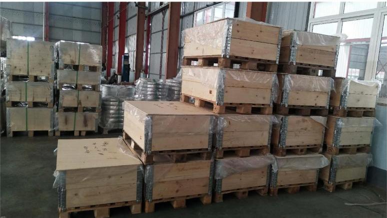 Fumigate Plywood wood pallet or case for standard flange and non-standard flange
